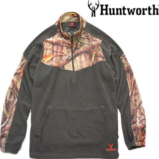 Huntworth(ハントワース) リアルツリーカモ柄 フリースジャケット(その他)