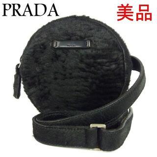 プラダ(PRADA)のプラダ 美品 ロゴ ハラコ レザー ウエストポーチ ボディ バッグ(ボディバッグ/ウエストポーチ)