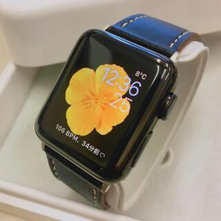 アップルウォッチ(Apple Watch)のアップルウォッチ 2 ブラックステンレス 38mm Apple Watch(腕時計(デジタル))