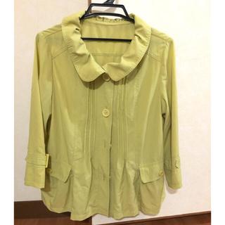 薄手のジャケット ウグイス色に近い黄色です(テーラードジャケット)