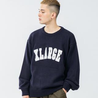 エクストララージ(XLARGE)のxlarge crewneck knit クルーネック ニット ネイビー(ニット/セーター)