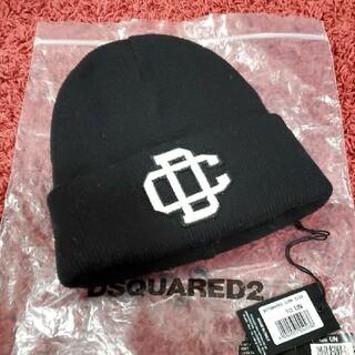 ディースクエアード(DSQUARED2)のDSQUARED2 ニット帽ブラック(ニット帽/ビーニー)