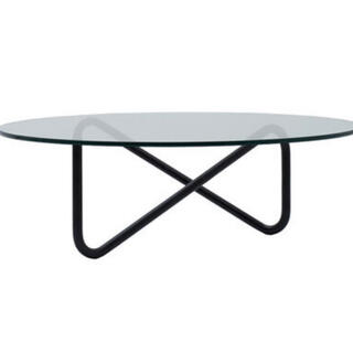 フランフラン(Francfranc)のコモックトリコム ローテーブル ガラステーブル デザイナーズ家具(ローテーブル)
