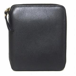 コムデギャルソン(COMME des GARCONS)のコムデギャルソン 2つ折り財布 - 黒 レザー(財布)