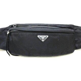 プラダ(PRADA)のプラダ ウエストポーチ美品  - 1BL011 黒(ボディバッグ/ウエストポーチ)