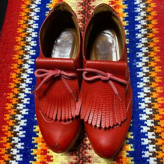 ヴィヴィアンウエストウッド(Vivienne Westwood)のヴィヴィアンウエストウッド ロッキンホース ゴルフ赤(ローファー/革靴)