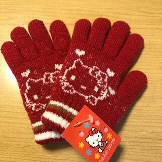 ハローキティ(ハローキティ)の手袋 キッズ 女の子 サンリオ キティ 厚地 厚地 110 120 130 (手袋)