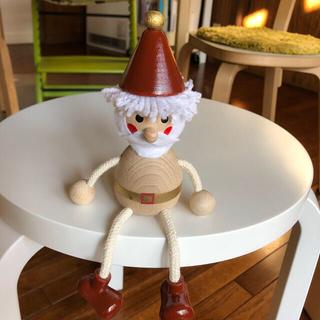 スタディオクリップ(STUDIO CLIP)のスタジオクリップ クリスマス 木製 脚ブラ サンタ(インテリア雑貨)