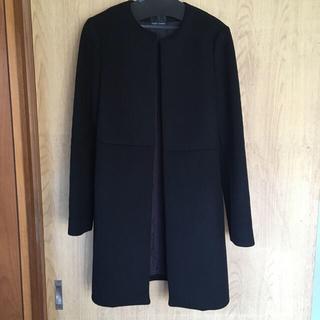 バーニーズニューヨーク(BARNEYS NEW YORK)のYOKO CHAN コート 黒 38(ロングコート)