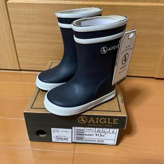 エーグル(AIGLE)の新品タグ付 AIGLE エーグル 長靴 レインブーツ キッズ 黒(長靴/レインシューズ)