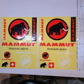 マムート(Mammut)のマムート ステッカー 2枚セット(登山用品)