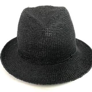 ヘレンカミンスキー(HELEN KAMINSKI)のヘレンカミンスキー 帽子 - 黒 ラフィア(その他)