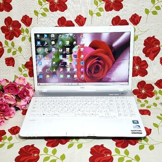 エヌイーシー(NEC)の最新Windows10/NEC/ホワイト/LaVie/メモリ4G/大容量HDD(ノートPC)