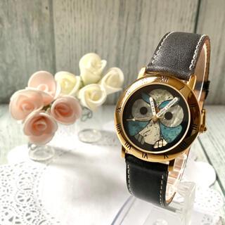 ピエールラニエ(Pierre Lannier)の【美品】Pierre Lannier ピエールラニエ 腕時計 フクロウ ゴールド(腕時計)