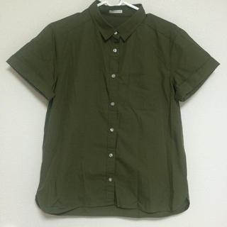 ジーユー(GU)の新品♡ロールアップシャツ(シャツ/ブラウス(半袖/袖なし))