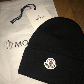 モンクレール(MONCLER)のモンクレール ニット帽 ブラック 黒(その他)