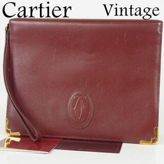 カルティエ(Cartier)のカルティエ ヴィンテージ マストライン 2C ミニ クラッチ セカンド バッグ(クラッチバッグ)