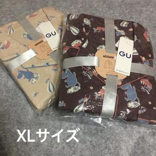 ジーユー(GU)のGU ムーミン フランネル パジャマ XLサイズ(パジャマ)