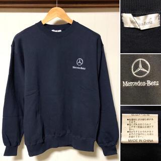 エーエムジーザダーケストニグ(AMG-THE DARKEST NIG)の人気❗️メルセデス ベンツ ワンポイント刺繍ロゴ スウェットトレーナー(スウェット)