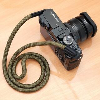 ロープ カメラストラップ カモ 一眼レフ ミラーレス レザー おしゃれ(その他)