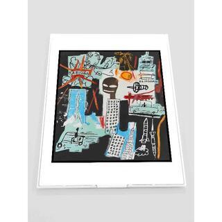 MB04-バスキア Basquiat  鏡 ミラー 薄型 折りたたみ式 雑貨(ミラー)