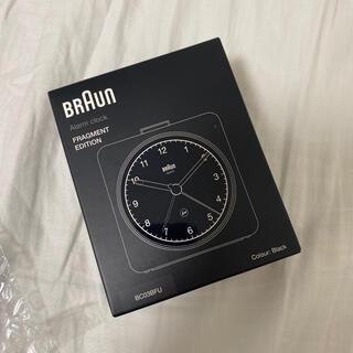 フラグメント(FRAGMENT)のBraun Fragment Alarm Clock ブラック(置時計)