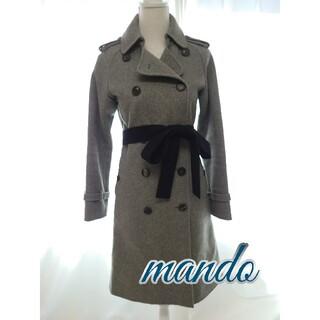 マンドゥ(MANDO)のmando マンド ウール カシミア トレンチコート  ステンカラーコート(トレンチコート)
