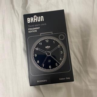 フラグメント(FRAGMENT)のBraun Fragment Alarm Clock グレー(置時計)