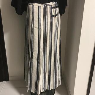 リサーチ(....... RESEARCH)のアーバンリサーチ 巻きスカート ストライプ(ロングスカート)