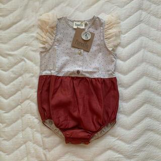 キャラメルベビー&チャイルド(Caramel baby&child )の【新品】popelin(ポペリン)ロンパース 2-3Y(ワンピース)