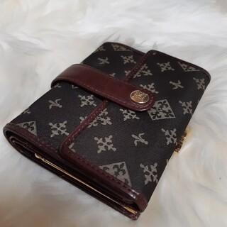 ラシット(Russet)の美品❗ラシット 三つ 折財布  本革 レザー ナイロン モノグラム (財布)