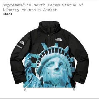 シュプリーム(Supreme)の黒 Supreme Statue Mountain Jacket Mサイズ(マウンテンパーカー)