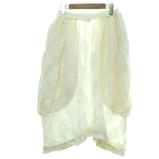 コムデギャルソン(COMME des GARCONS)のCOMME des GARCONS 17ss コムコム 総レーススカート(ひざ丈スカート)
