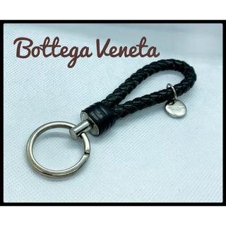 ボッテガヴェネタ(Bottega Veneta)の⭐︎今週末限定お値下げ【Bottega Veneta】レザーブラック キーリング(キーホルダー)