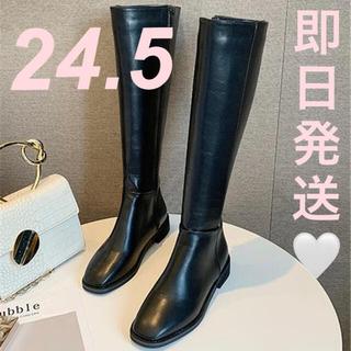 即購入ok 実物 スクエアトゥ ロングブーツ 24.5 zara moussy(ブーツ)