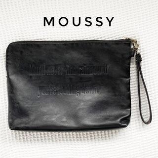 マウジー(moussy)のmoussy レザー風クラッチバッグ(クラッチバッグ)