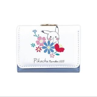ポケモン(ポケモン)のポケモン ミニ財布D 三つ折り財布 ウォレット ピカチュウ フラワー(財布)