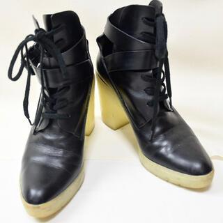 アレキサンダーワン(Alexander Wang)のALEXANDER WANG アレキサンダーワン レザーショートブーツ 36 黒(ブーツ)