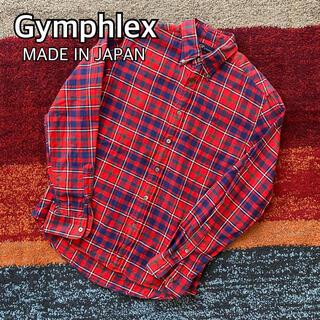 ジムフレックス(GYMPHLEX)のGymphlex ジムフレックス ボタンダウン チェック ネルシャツ 日本製(シャツ)