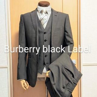 BURBERRY BLACK LABEL - BURBERRY BLACK LABEL スーツ ベスト付き 36R バーバリー