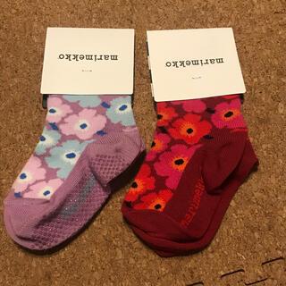 マリメッコ(marimekko)の新品未使用マリメッコ 靴下 ソックス ベビー  19-21サイズ 12〜13cm(靴下/タイツ)
