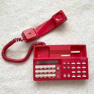 エヌティティドコモ(NTTdocomo)のM-2PD 電話機 ヨコ 赤 レッド(その他)
