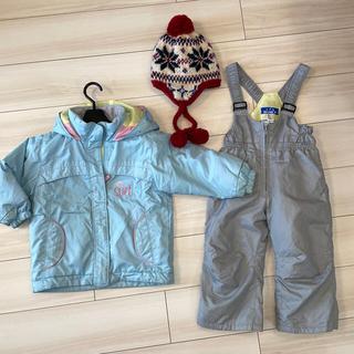 スキーウェア 帽子 セット 90cm 子供用(ウエア)