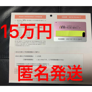 ミツコシ(三越)の三越伊勢丹ホールディングス株主優待カード(その他)