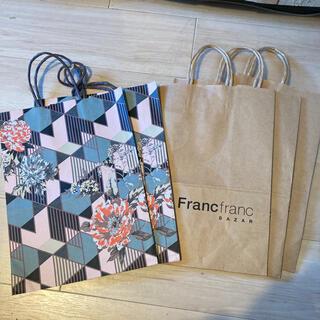 フランフラン(Francfranc)のFrancfranc 紙袋セット(ショップ袋)