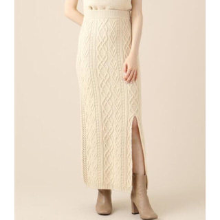 デイシー(deicy)のme couture  ケーブルニットロングスカート(ロングスカート)
