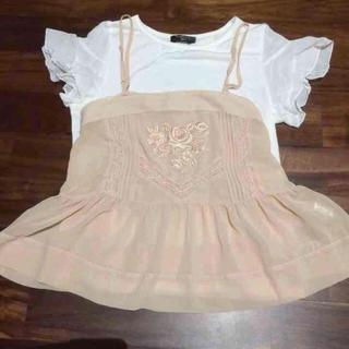 ミスティウーマン(mysty woman)のキャミソール トップス セット(Tシャツ(半袖/袖なし))