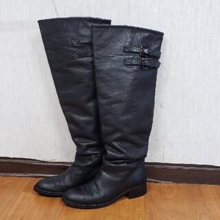 ビブラム(vibram)の希少イタリア製レザーロングブーツ ビブラム×スタリオーニ 美品(ブーツ)