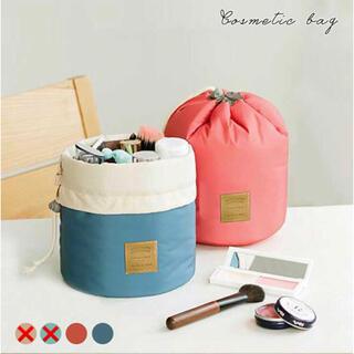 【内ポケット付き】コスメポーチ 旅行 防水 大容量 筒型メイクポーチ 巾着(メイクボックス)