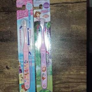 ディズニー(Disney)の新品 ディズニープリンセス 歯ブラシセット 乳歯ブラシ(歯ブラシ/歯みがき用品)